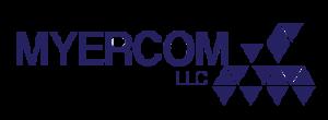 blue Myercom logo